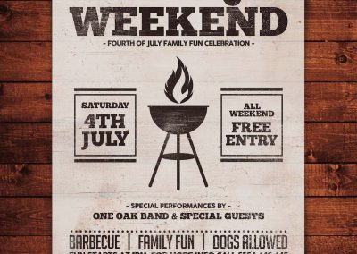 Barbecue Weekend Flyer Template 3