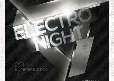 Electro Night Flyer Template 3