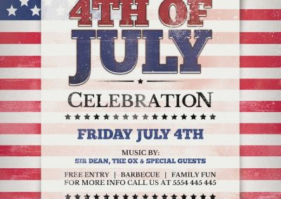 Fouth Of July Flyer Template 3